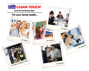 Ultra clean touch disinfecting alcohol free wet wipes places to use