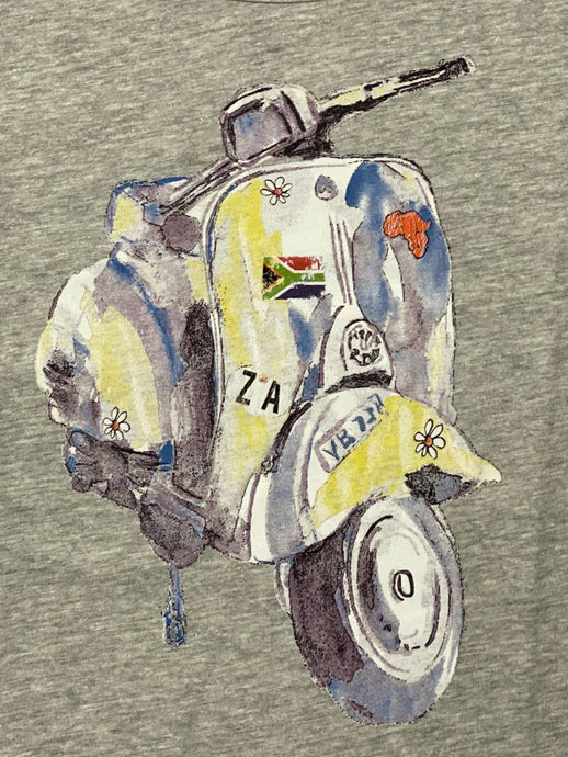Watercolour Vespa Ladies