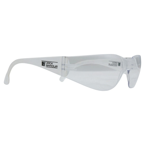 Magnum Bifocal Safety Glasses +2.50 - Clear