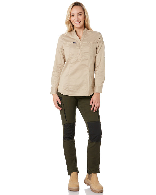 Womens Flex and Move Cargo Pants - Olive