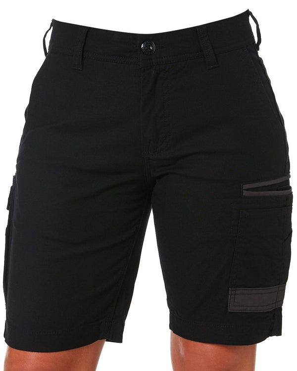WS-3W Ladies Stretch Work Shorts - Black