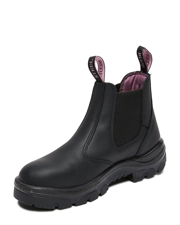 Hobart Ladies Elastic Sided Boot - Black