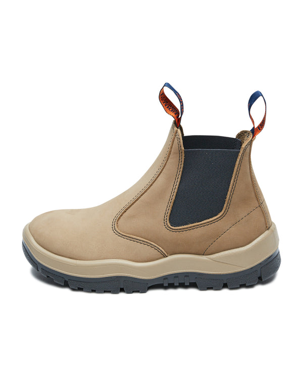 Elastic Sided Safety Boot - Stone