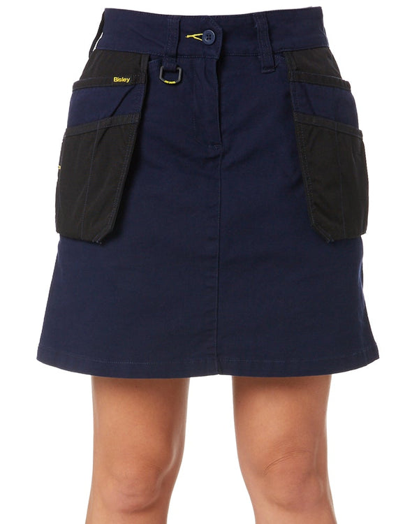 Womens Flex and Move Stretch Cotton Skort - Navy