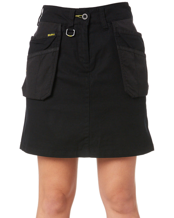 Womens Flex & Move Stretch Cotton Skort - Black