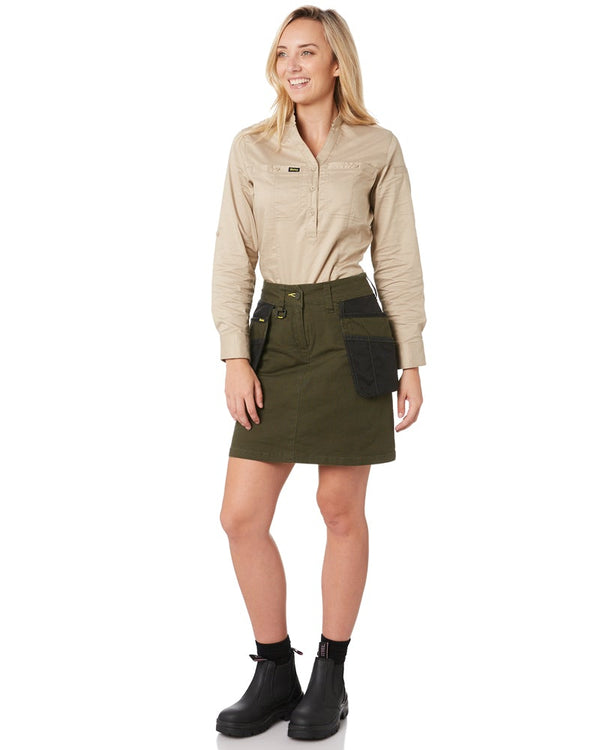 Womens Flex and Move Stretch Cotton Skort - Olive