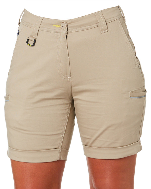 Womens Stretch Cotton Short - Stone