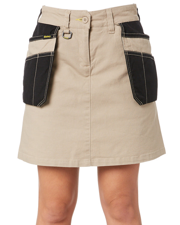 Womens Flex and Move Stretch Cotton Skort - Stone