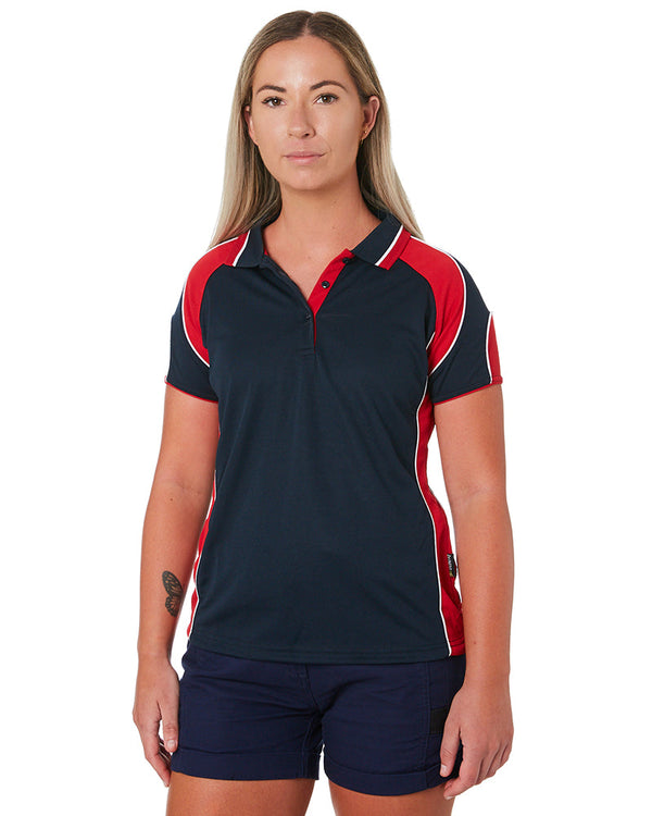 Murray Ladies Polo - Navy/Red
