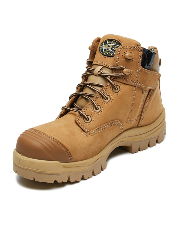 AT 45-650Z Hiker Safety Boot with Zip - Stone