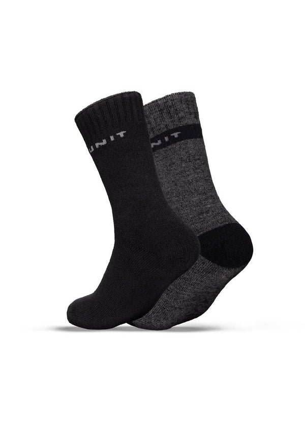Extra Thick Premium Bamboo 2 Pack Socks - Multi