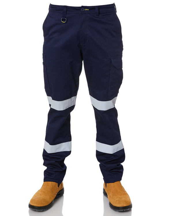 Taped Biomotion Stretch Cotton Drill Cargo Pants - Navy