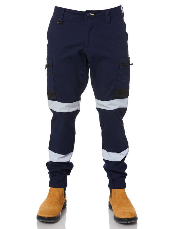 Flex & Move Taped Stretch Cargo Cuffed Pants - Navy