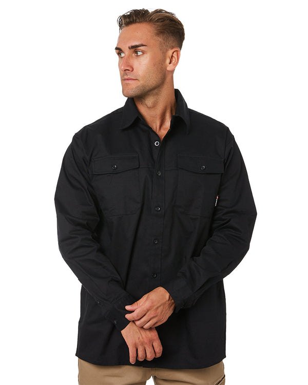 Task Workwear LS Shirt - Black
