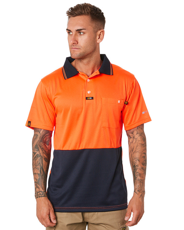 Basic Airwear Polo Shirt SS - Orange/Navy