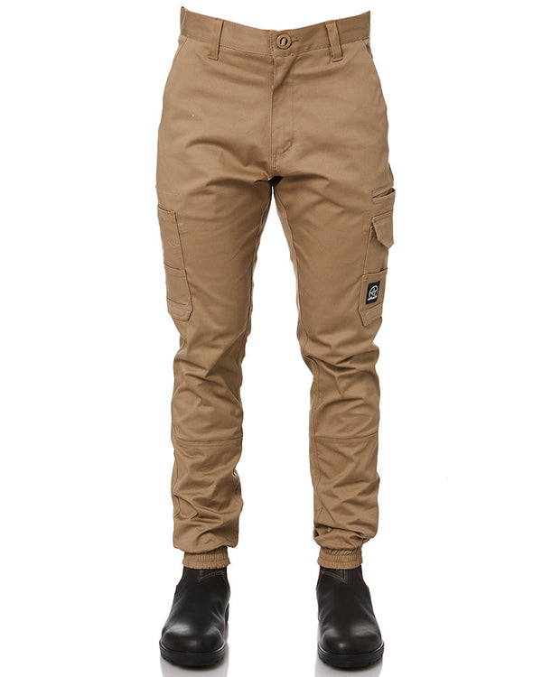 Demolition Cuffed Stretch Cargo Pant - Khaki