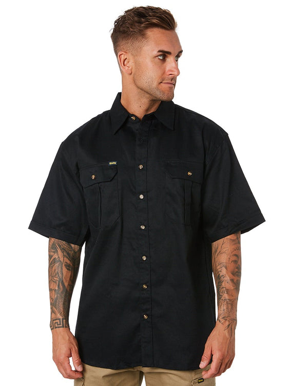 Original Cotton Drill SS Shirt - Black