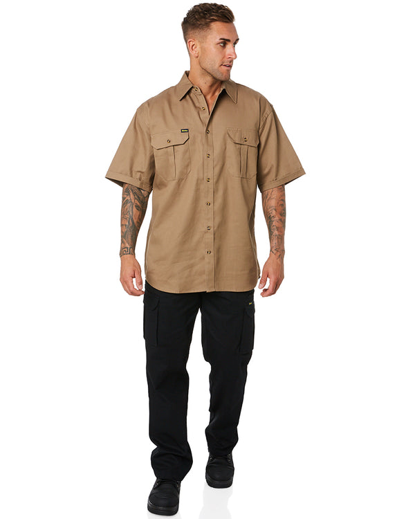 Original Cotton Drill SS Shirt - Khaki
