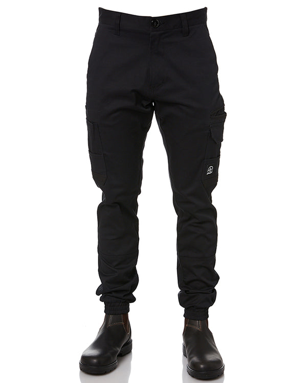 Demolition Cuffed Stretch Cargo Pant - Black
