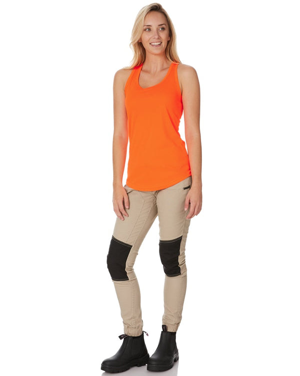 Womens Racer Back Singlet - Orange