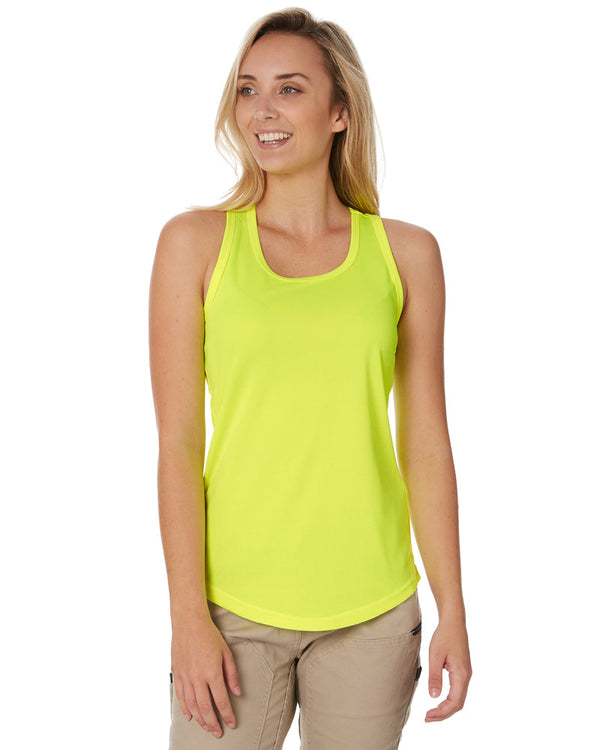 Womens Racer Back Singlet - Yellow