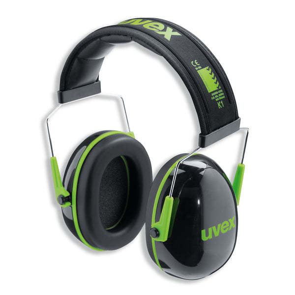 K1 Earmuffs - Black/Green