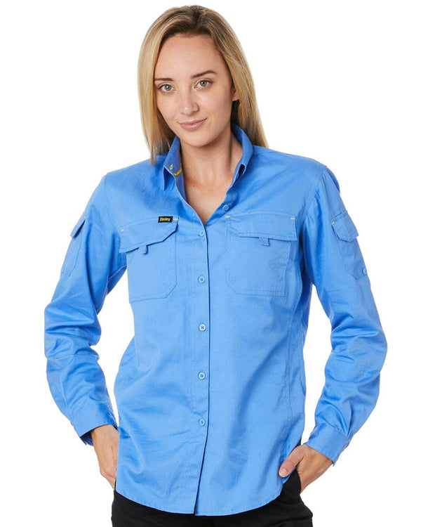 Womens X Airflow Ripstop LS Shirt * - Blue