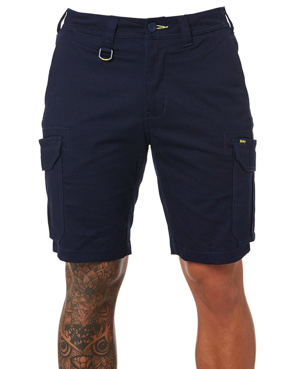 Stretch Cotton Cargo Short - Navy