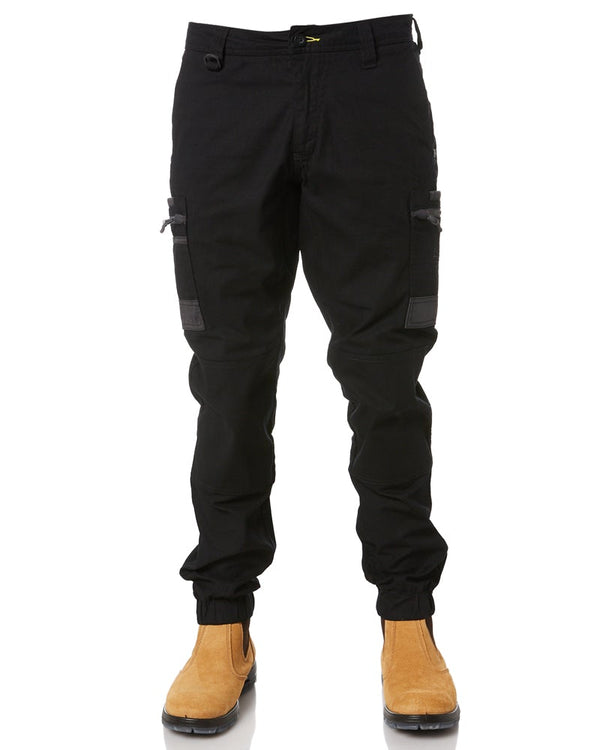 Flex and Move Stretch Cargo Cuffed Pants - Black