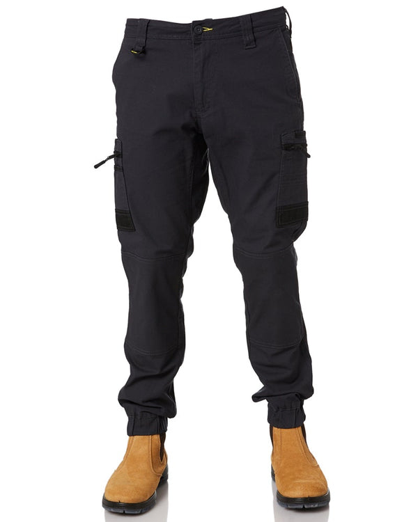 Flex and Move Stretch Cargo Cuffed Pants - Charcoal