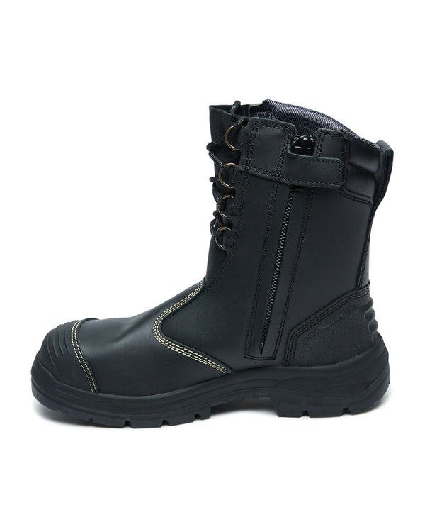 55380 High Leg Zip Sided Boot  - Black