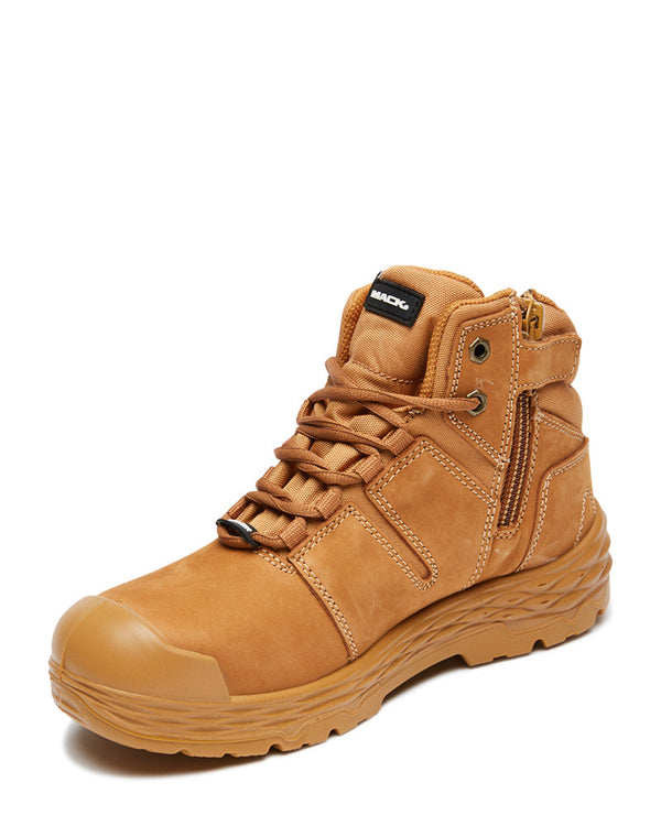 Shift Lace Up Safety Boot with Zip - Honey