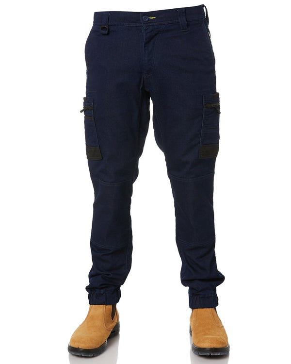 Flex and Move Stretch Cargo Cuffed Pants - Navy