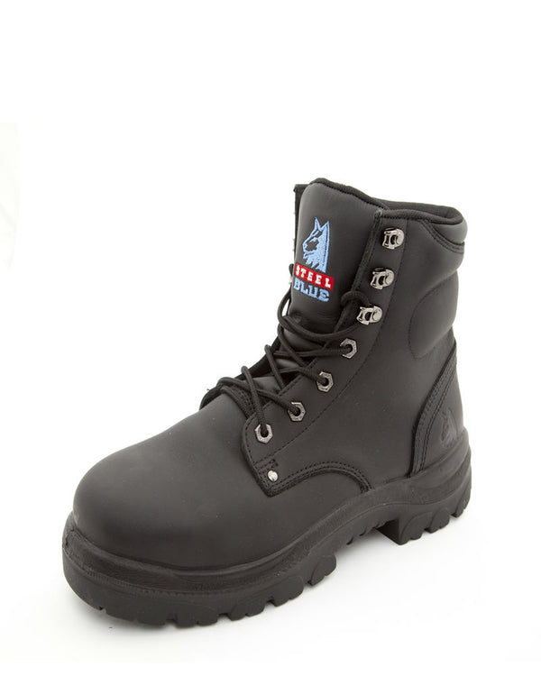Argyle Lace Up Safety Boot Nitrile Sole size 15 and 16 only - Black