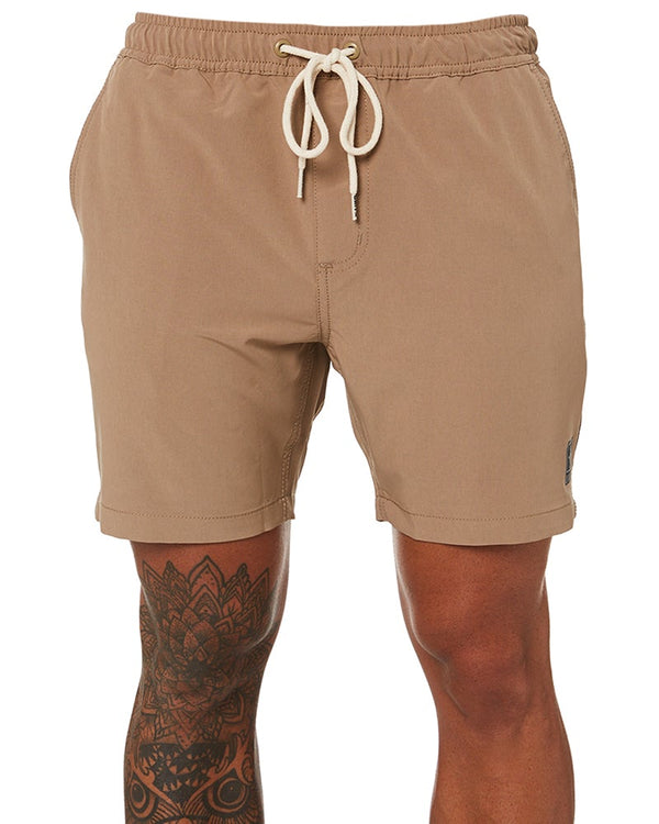 Boardwalk Elastic Waist Walkshorts - Khaki