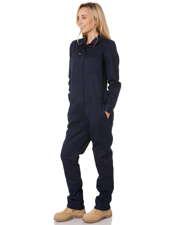 Womens Cotton Drill Coverall * - Navy
