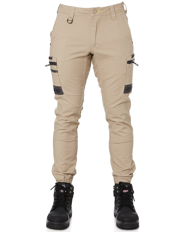 Flex and Move Stretch Cargo Cuffed Pants - Stone