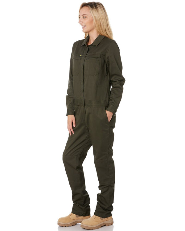 Womens Cotton Drill Coverall * - Olive