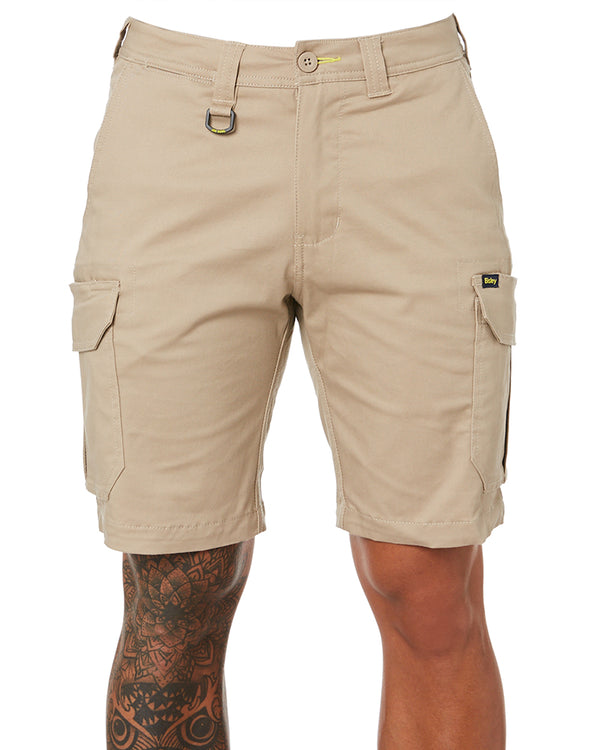 Stretch Cotton Cargo Short - Stone