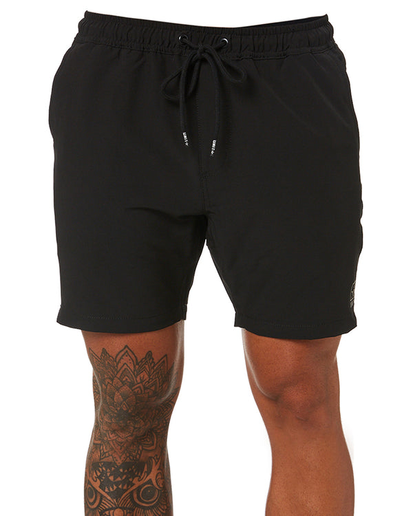 Boardwalk Elastic Waist Walkshorts - Black