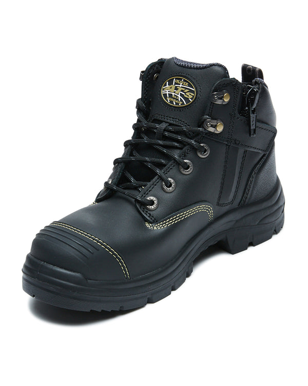 AT 55-340Z Hiker Safety Boot with Zip - Black