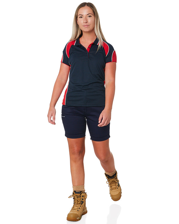 Womens Stretch Cotton Short - Navy