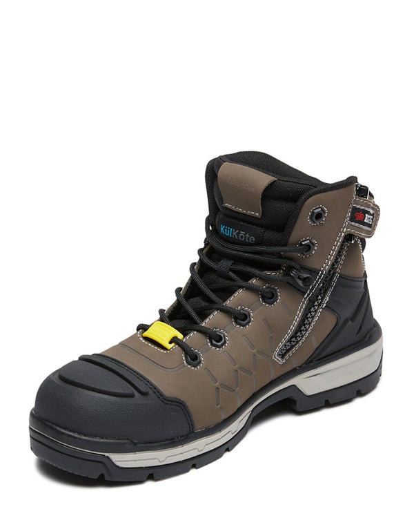 Quantum Zip Side Safety Boot - Cedar/Black