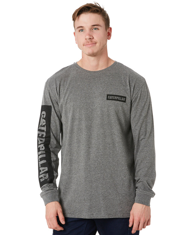 Icon Block L/S Tee - Dark Heather Grey