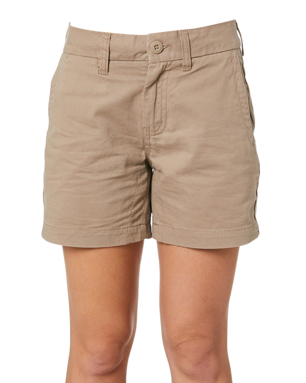 WS-2W Ladies Lightweight Work Shorts - Khaki