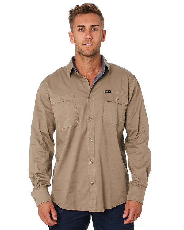 LSH-1 Stretch Work Shirt LS - Khaki