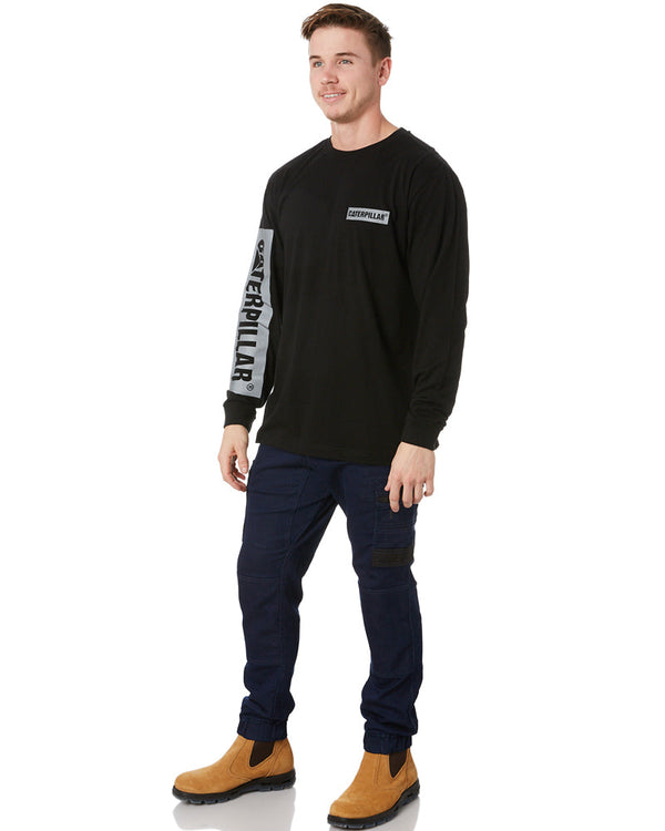 Icon Block L/S Tee - Black