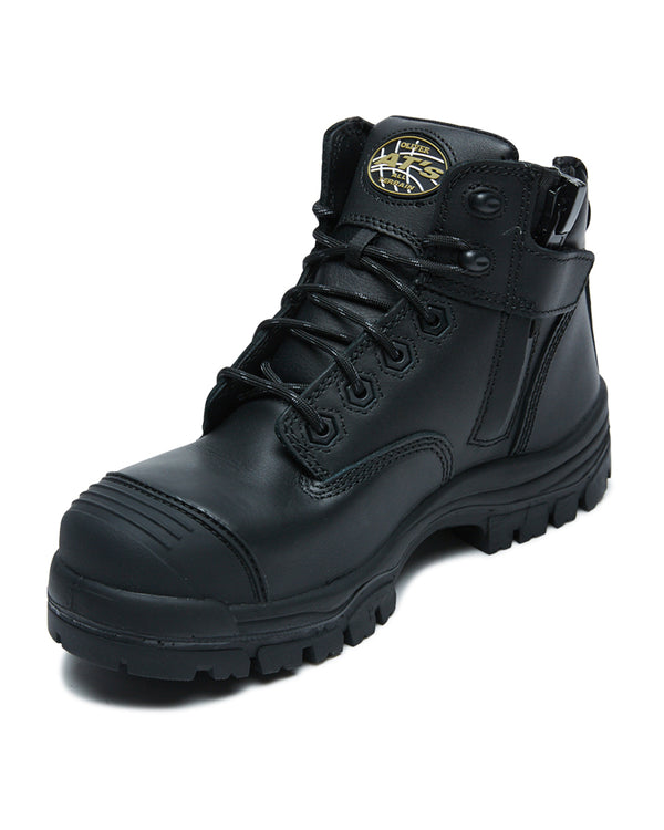 AT 45-640Z Hiker Safety Boot with Zip  - Black