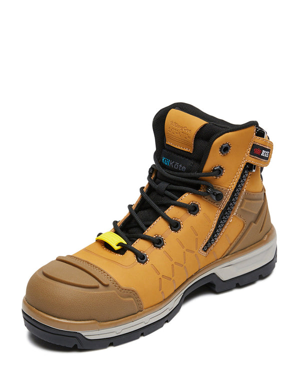 Quantum Zip Side Safety Boot - Wheat/Black
