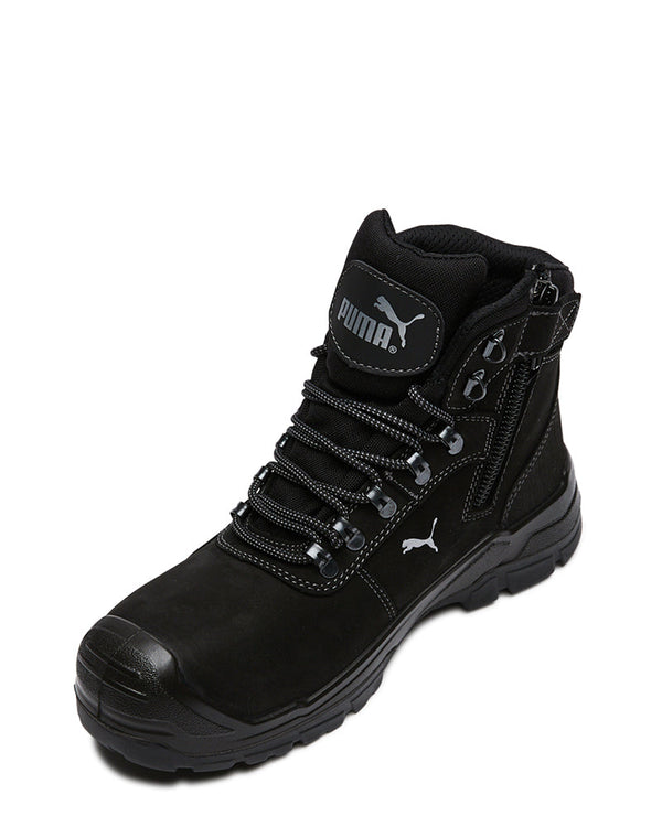 Scuff Cap Waterproof Work Boot With Zip - Black